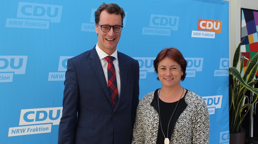 Verkehrsminister Hendrik Wüst und Bianca Winkelmann