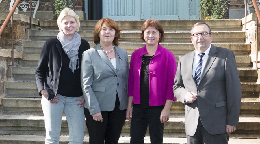 Von links: Nina Windhorst, Annette Meyer, Bianca Winkelmann MdL, Hans-Eckhard Meyer.