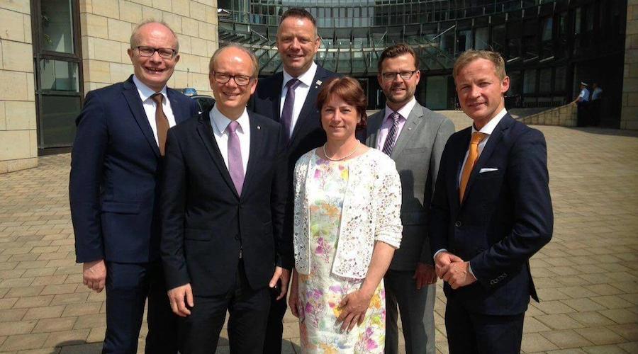 Die CDU-Abgeordneten aus OWL mit André Kuper (2. von links).