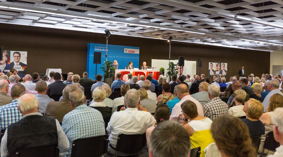 Volles Haus beim Besuch von Bundesfinanzminister Dr. Wolfgang Schäuble